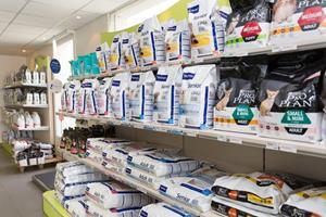 Espace de vente et nutrition de la clinique vétérinaire arc en ciel